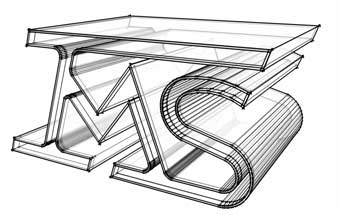 architect 3-D sketch of IMS logo